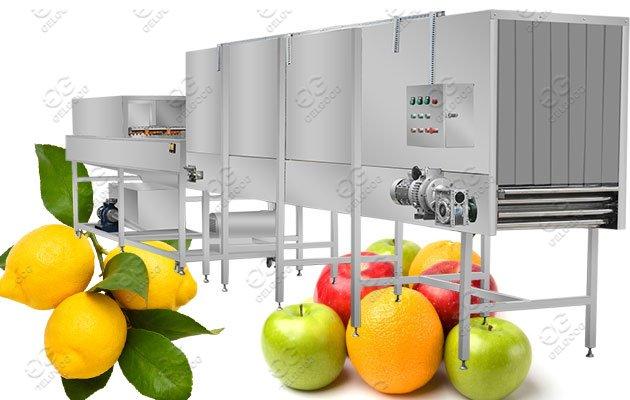 Industrial Use Citrus Fruit Washing Waxing Machine