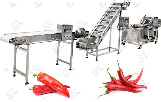 Automatic Chili Pepper Washing Drying Machine Line