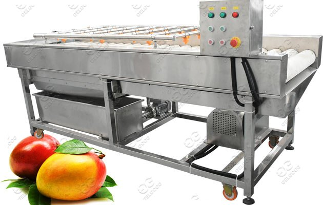 Apple Pear Peach Washing Machine For Industrial Use