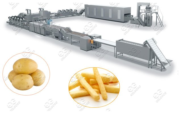 Full Automatic French Fries Making Ma