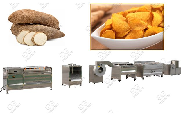 yam chips process machine line
