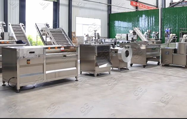 Small Scale Factory Potato Chips Making Machine Line Price