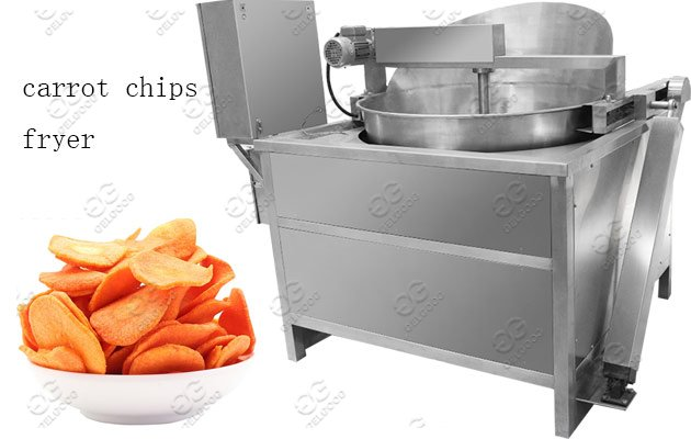 Commercial Carrots Chips Frying Machi