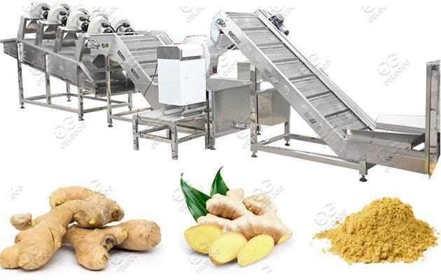 100kg/h Ginger Powder Process Machine Line