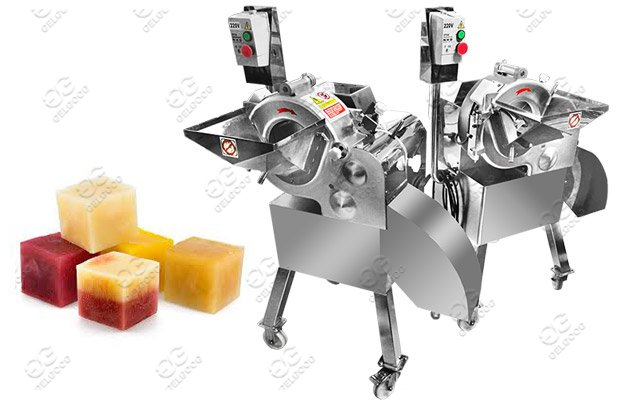 fruit vegetable cube cutting machine