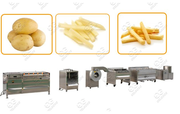 french fries making line