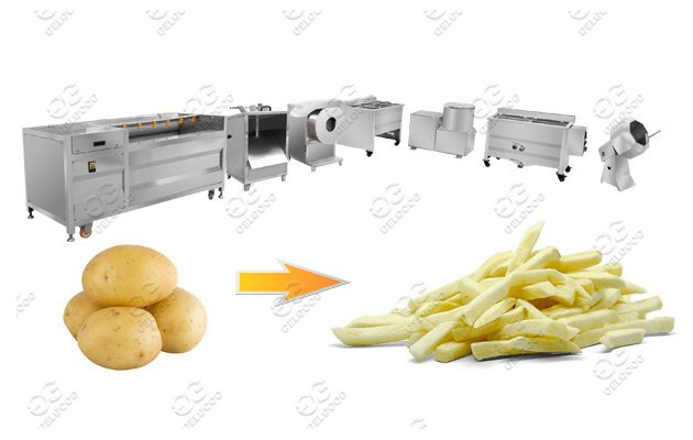 small scale fries making line