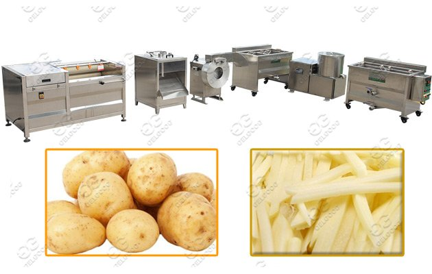 french fries making machine line