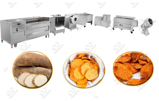 yam chips making line