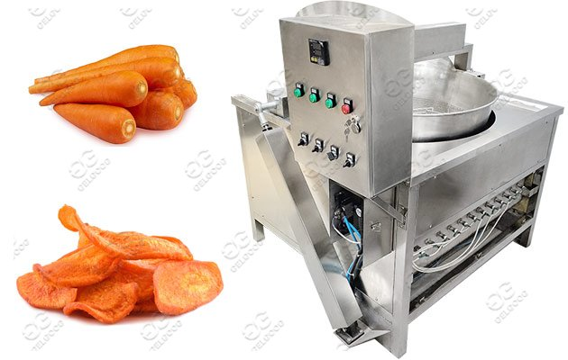 carrots chips frying machine