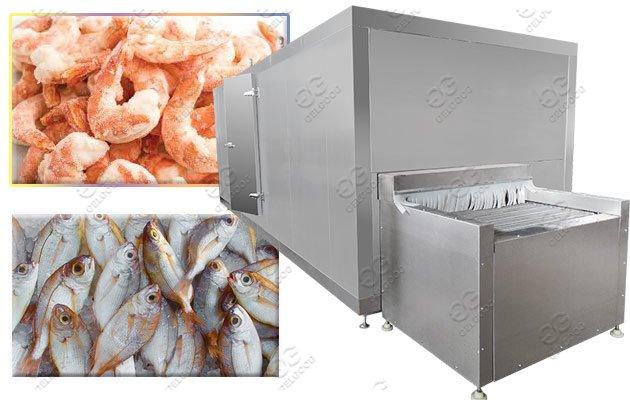 IQF Quick Seafood Freezing Machine|Shrimp Freezer Machine