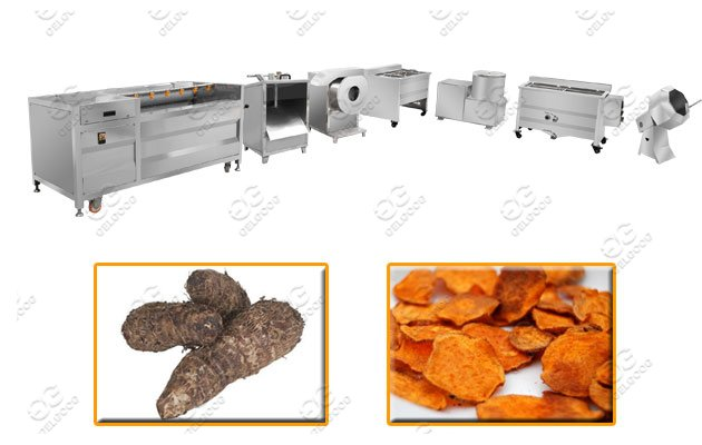 Yam Chips Process Machine Line|Cassava Chips Making Machine Line