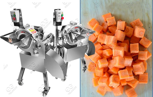 Industrial Fruit Vegetable Cube Cutting Machine