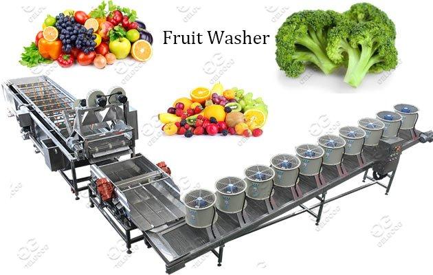 Fruit Vegetable Washing Drying Machine Line