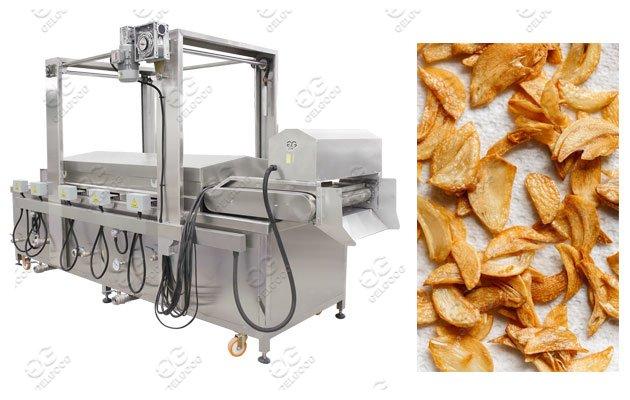 Industrial Garlic Chips Frying Machin