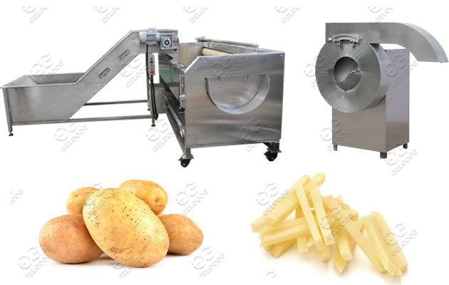 Potato Washing Peeling Cutting Machine Line Solution