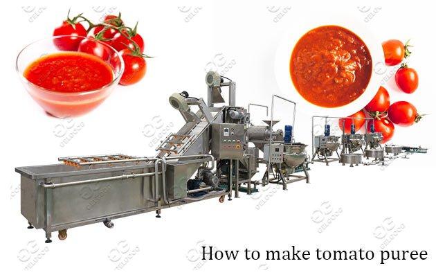Commercial Tomato Puree Making Machin