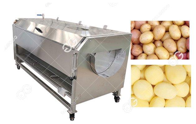 Introduce Of The Brush Roller Type Potato Washing Peeling Machine