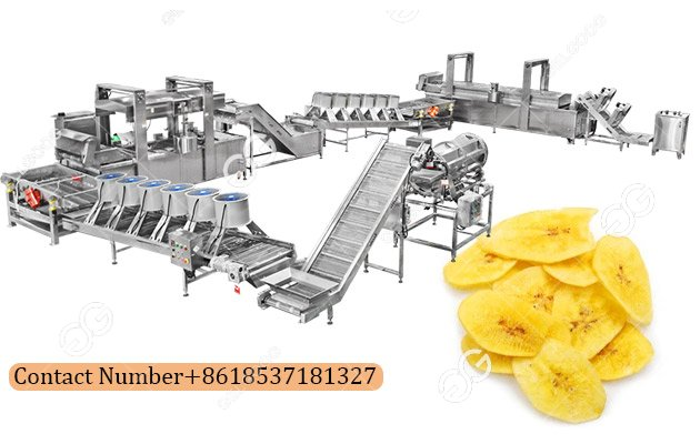 Banana Chips Making Machine Line|Plantain Chips Production Line