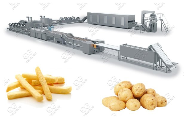 full automatic french fries making machine line